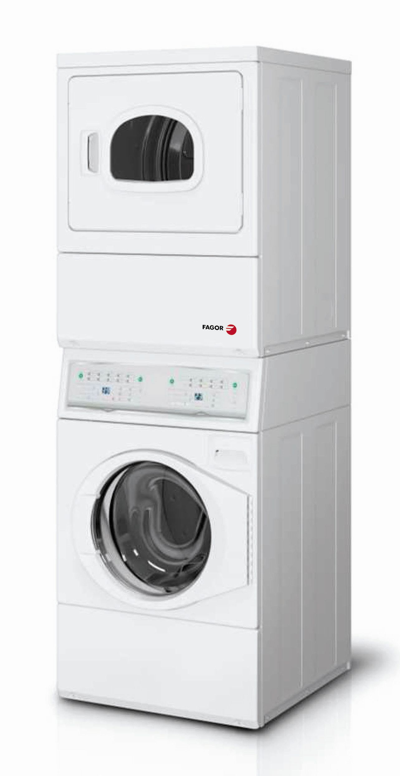 Conjunto lavadora secadora fagor pwd 10 for Mueble columna lavadora secadora