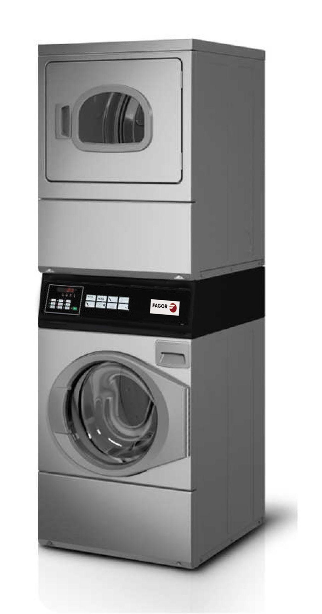 Conjunto lavadora secadora fagor pwd 10 inox - Lavadora y secadora en columna ...