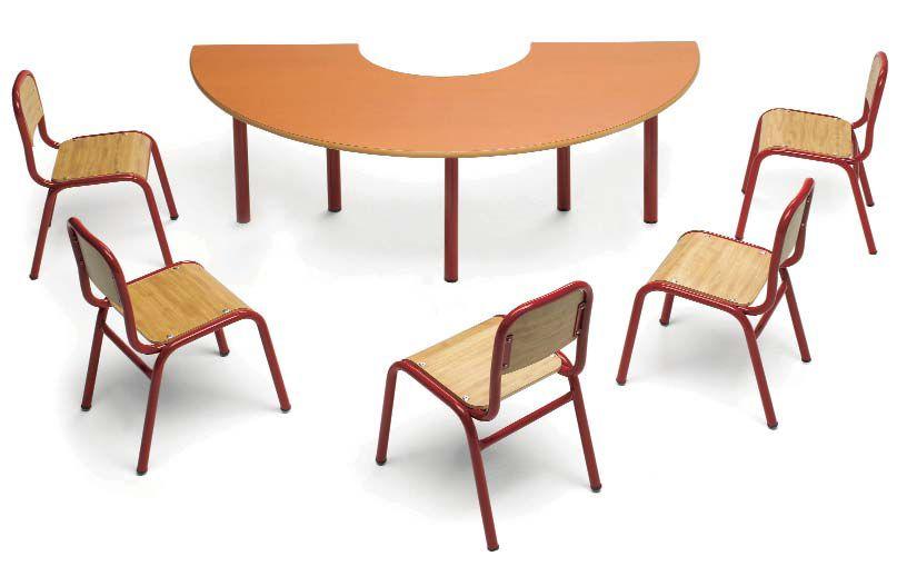 Mesa semicircular para guarderia